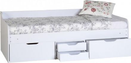 Designer Luxury White Cabin Bed Frame